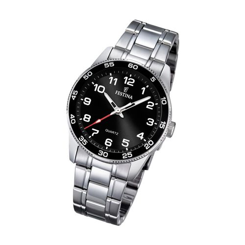 F16905/2 Festina ladies stainless steel black face bracelet watch with arabic dial